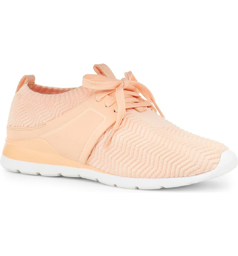 UGG<SUP>®</SUP> Willows Sneaker, Main, color, PEACH FUZZ