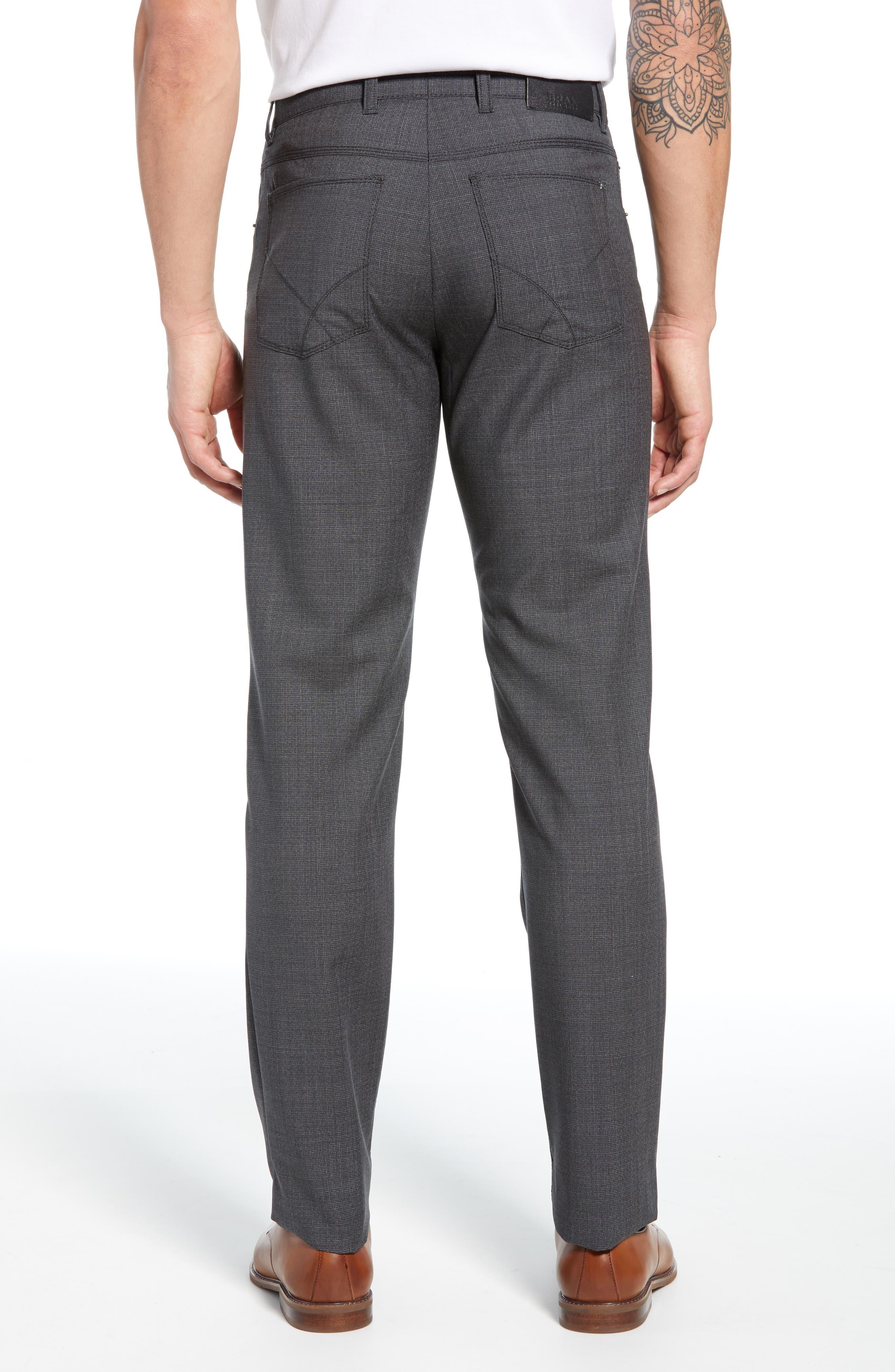 ,                             Cooper Five Pocket Check Wool Trousers,                             Alternate thumbnail 2, color,                             DARK GREY
