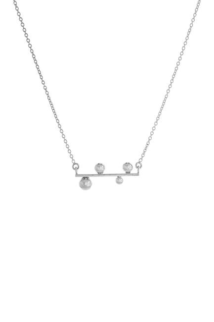 Image of Best Silver Inc. Sterling Silver Ball Bar Necklace