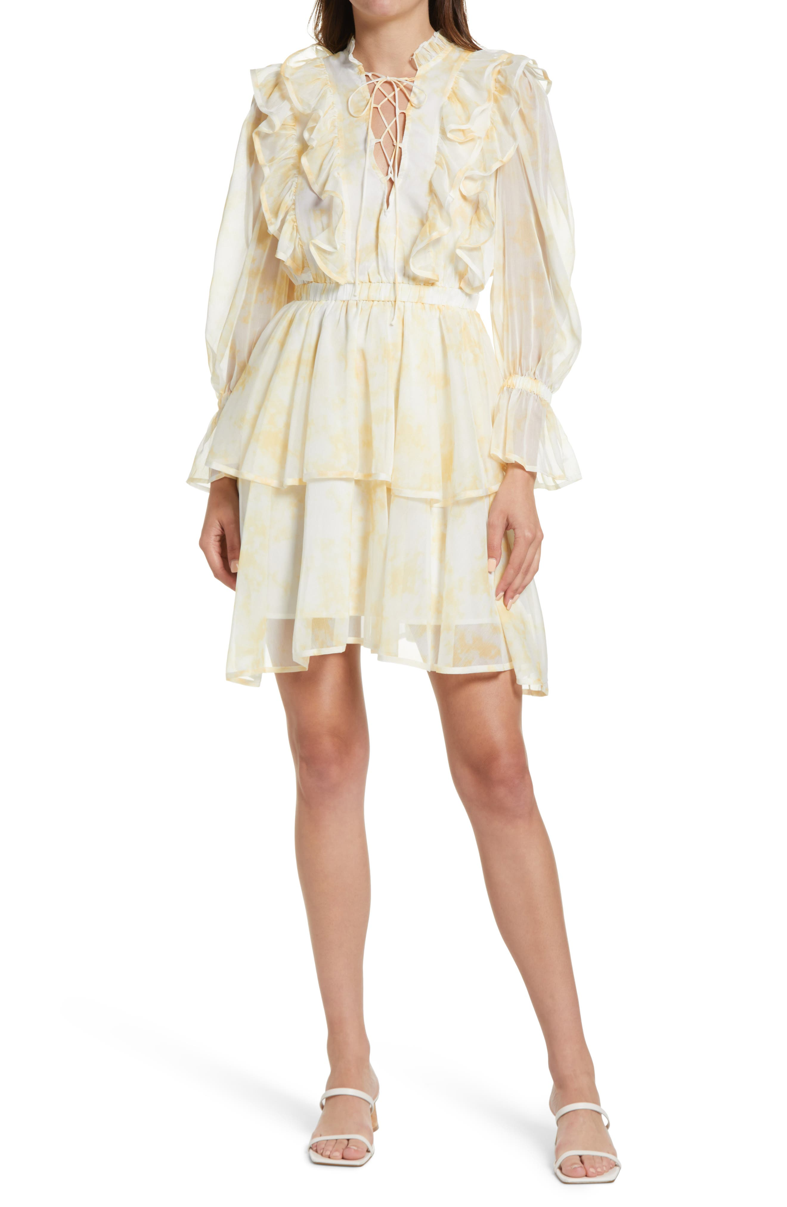 Floral Ruffle Long Sleeve Dress