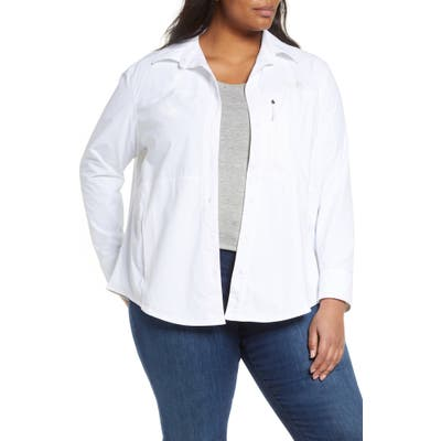 Plus Size The North Face Outdoor Trail Long Sleeve Shirt, White