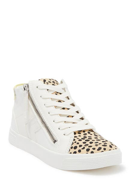 Image of Dolce Vita Zuri Side Zip Lace-Up Mid Top Sneaker