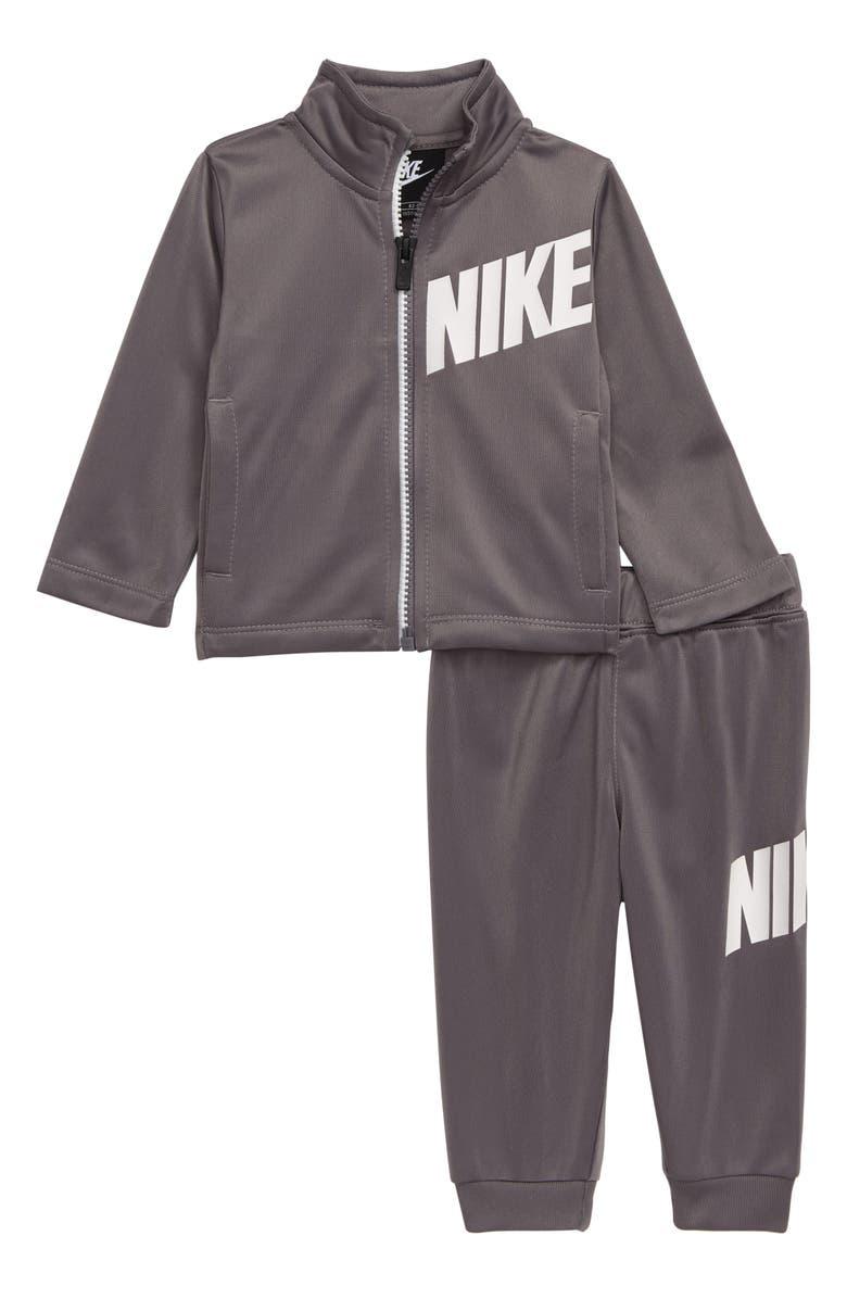 NIKE Core Full Zip Jacket & Sweatpants Set, Main, color, GUNSMOKE