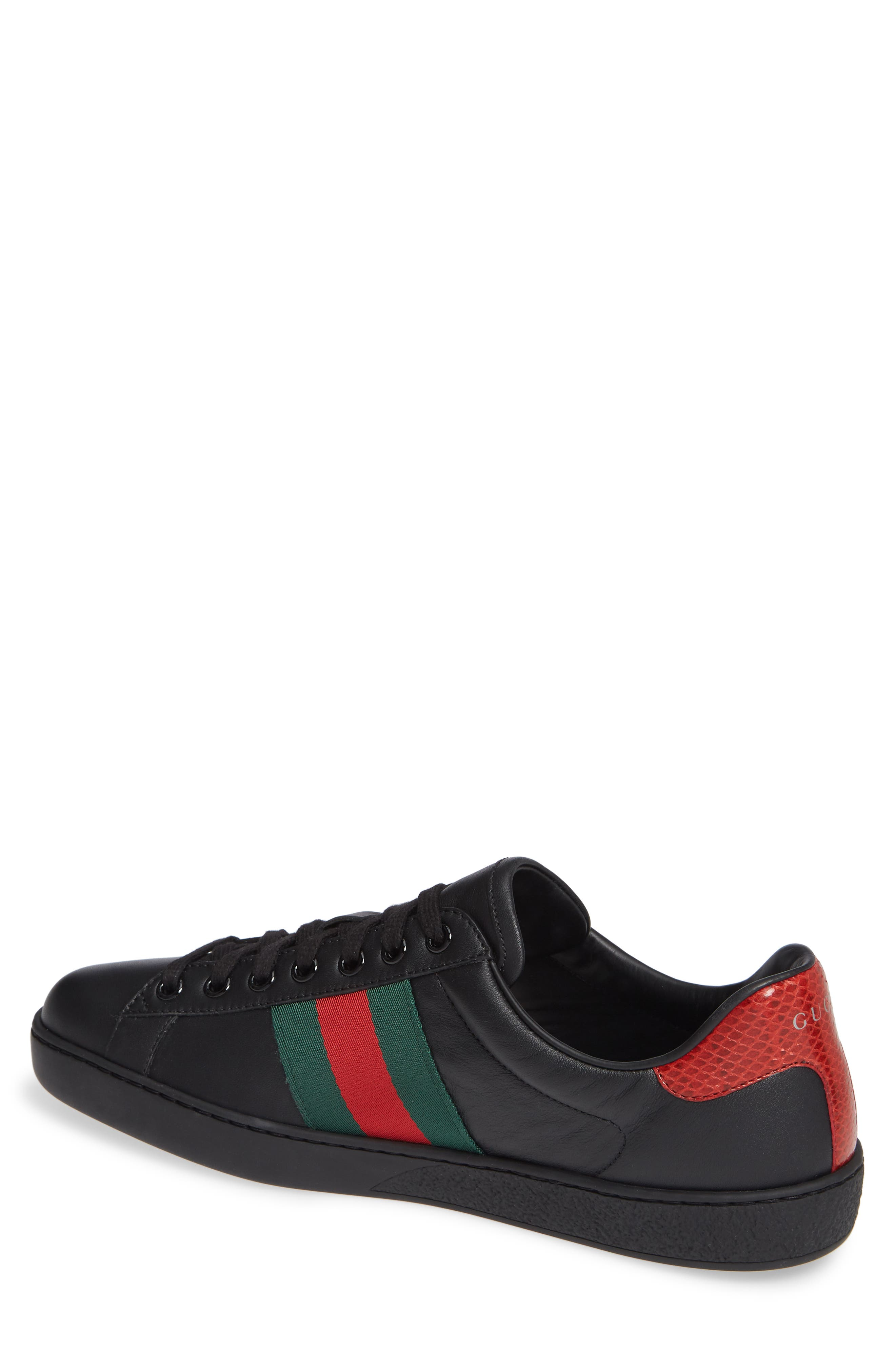 ,                             New Ace Clean Sneaker,                             Alternate thumbnail 2, color,                             BLACK/ RED