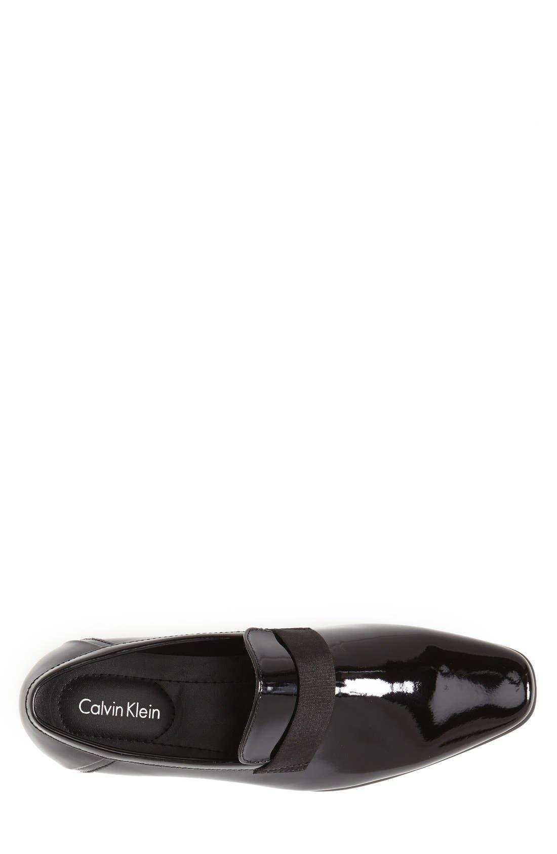 ,                             'Bernard' Venetian Loafer,                             Alternate thumbnail 3, color,                             BLACK