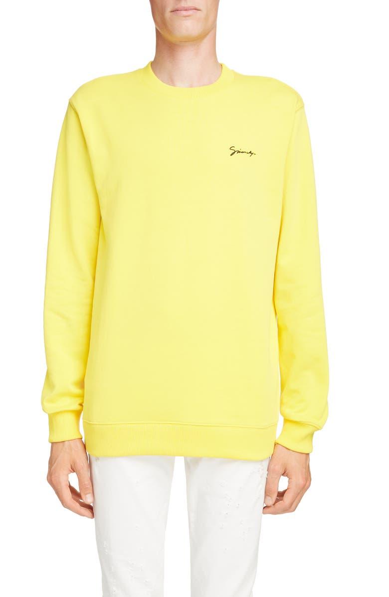 GIVENCHY Signature Logo Sweatshirt, Main, color, 700