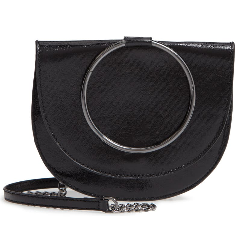 TROUVÉ Reese Crackle Ring Crossbody Bag, Main, color, 001