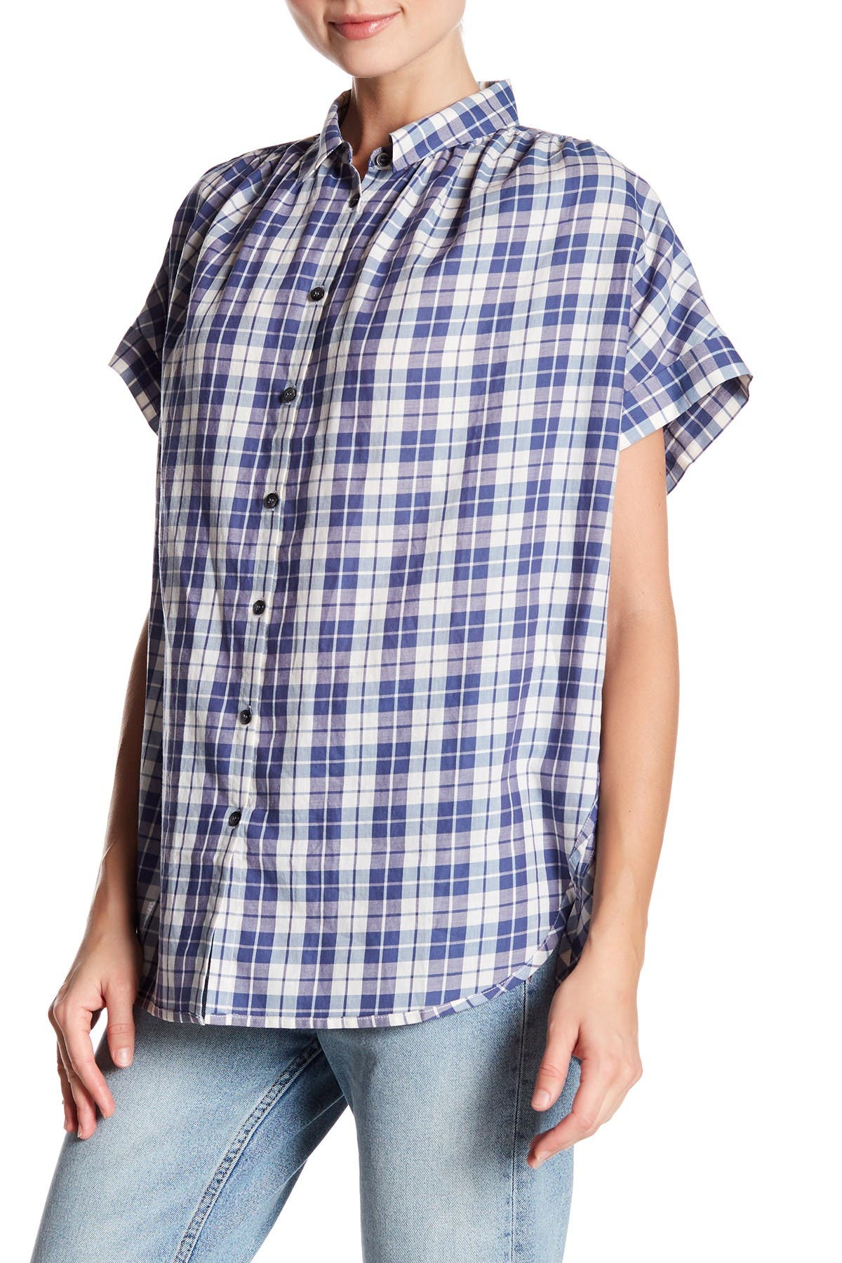 Image of Madewell Central Linus Plaid Shirt
