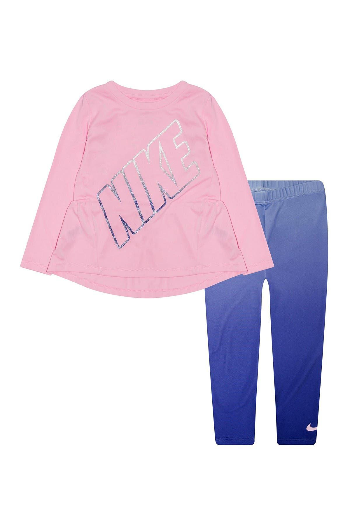 Image of Nike Ruffle Tunic & Leggings Set