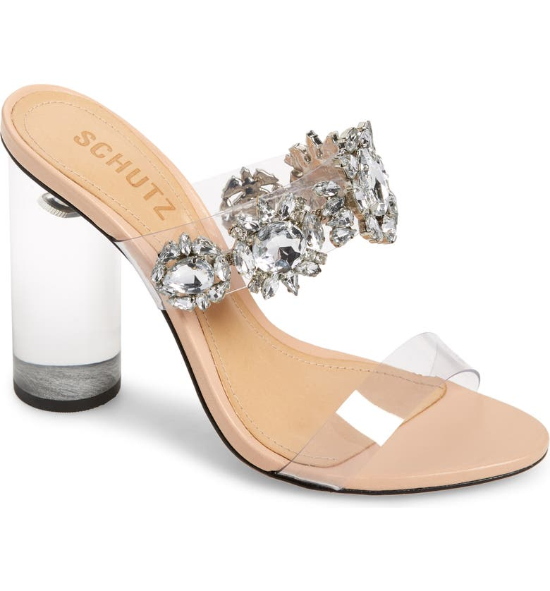SCHUTZ Blanck Clear Slide Sandal, Main, color, TRANSPARENTE
