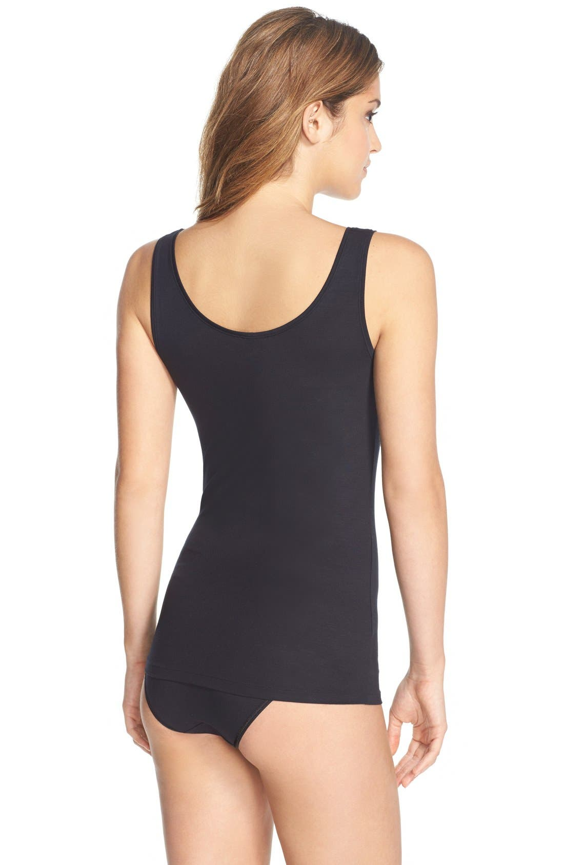 ,                             'Soft Touch' Layering Tank,                             Alternate thumbnail 8, color,                             BLACK