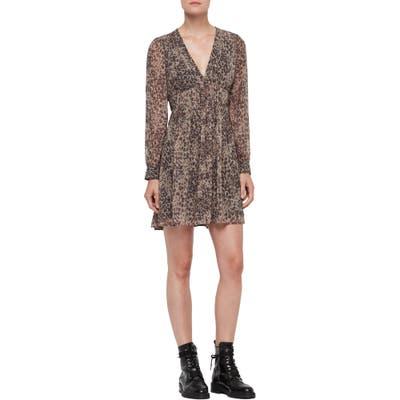 Allsaints Kiana Long Sleeve Dress, Brown