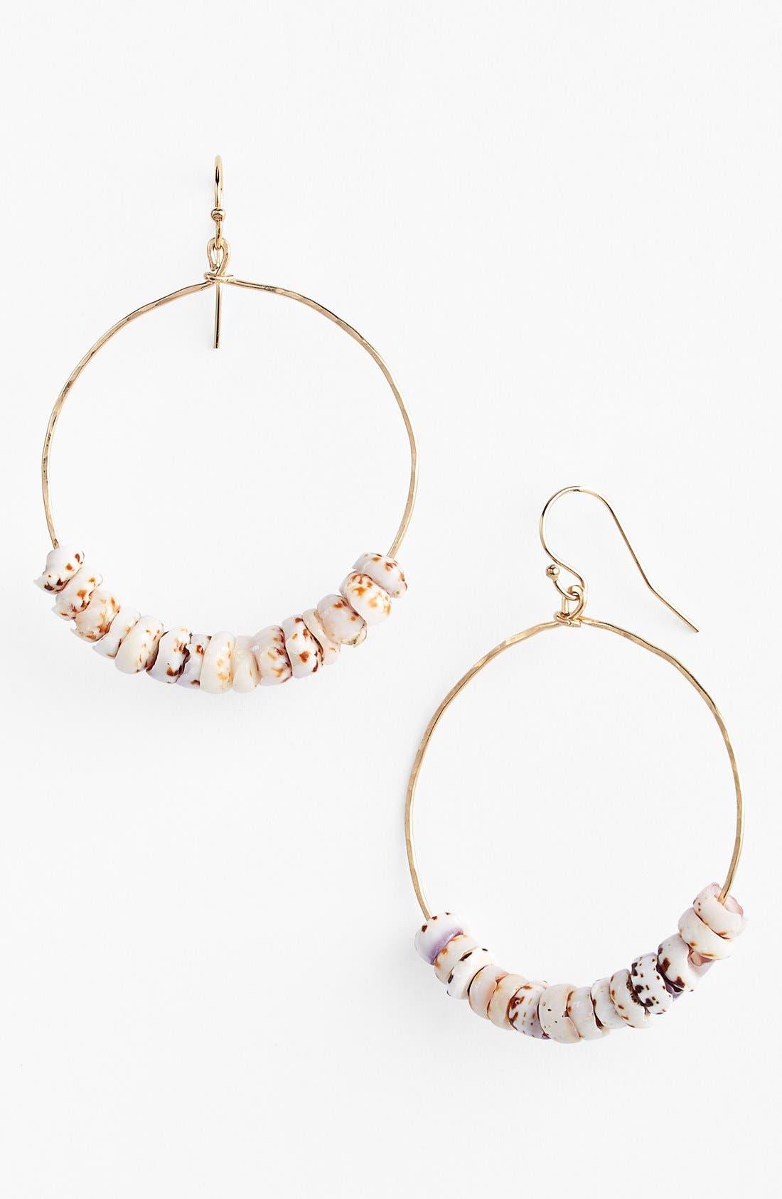 'Manini' Puka Shell Frontal Hoop Earrings