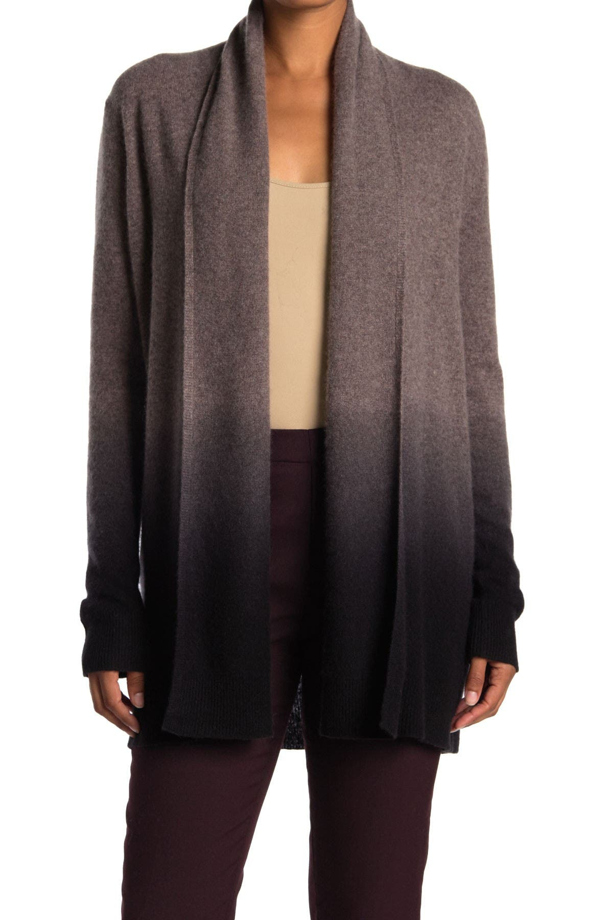 Image of Magaschoni Ombre Shawl Collar Cashmere Cardigan