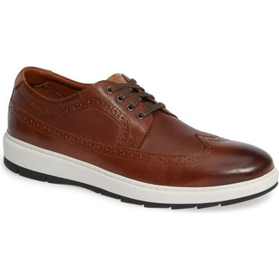 Johnston & Murphy Elliston Wingtip Sneaker- Brown