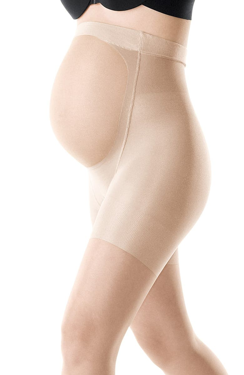 SPANX<SUP>®</SUP> Mama Mid-Thigh Shaping Sheers, Main, color, NUDE