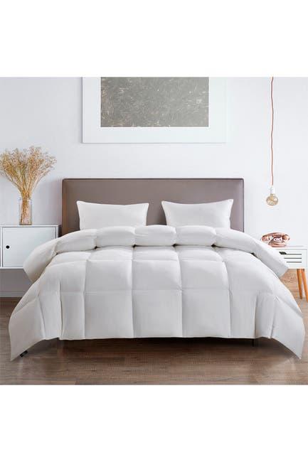 Image of Blue Ridge Home Fashions Serta 233TC  Light Warmth Goose Feather & Goose Down Fiber Comforter - Full/Queen - White