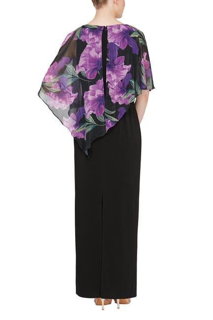Image of SLNY Floral Overlay Maxi Dress
