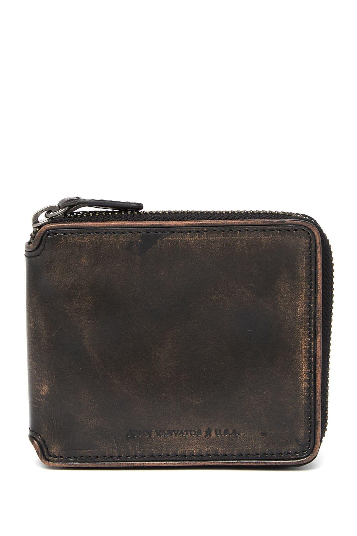 Image of John Varvatos Collection Leather Zip Around Wallet