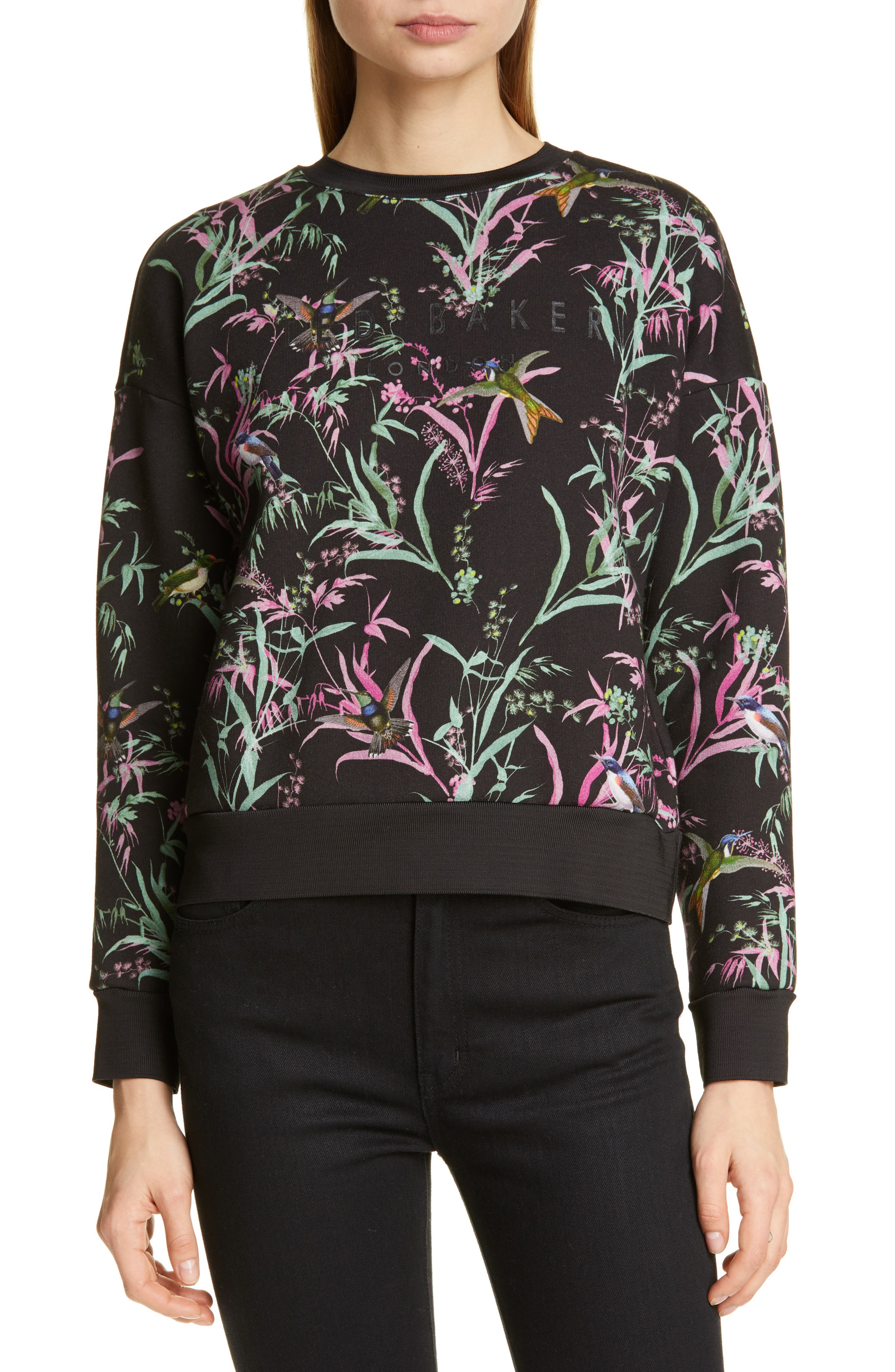 Ted Baker London Vencia Print Sweatshirt