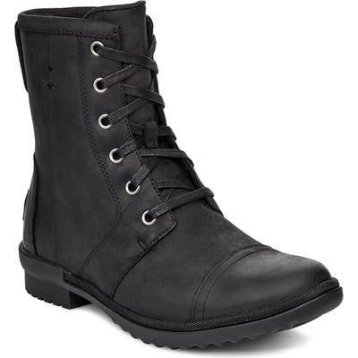 UGG Ashbury Waterproof Lace-Up Bootie, Black