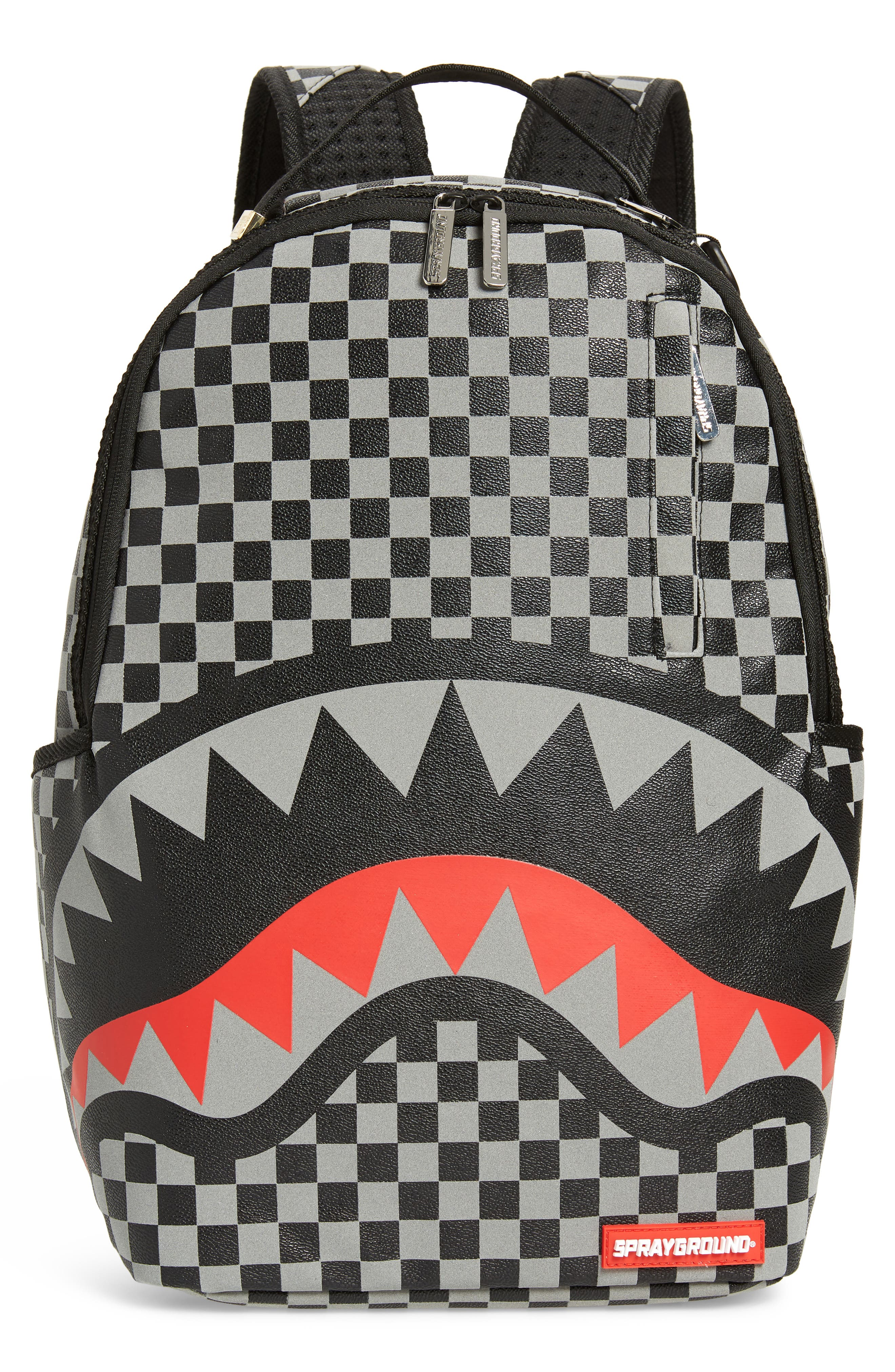 Sprayground Sharks In Paris Faux Leather Backpack - Black