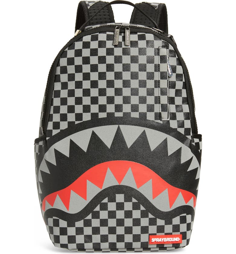SPRAYGROUND Sharks in Paris Faux Leather Backpack, Main, color, 001