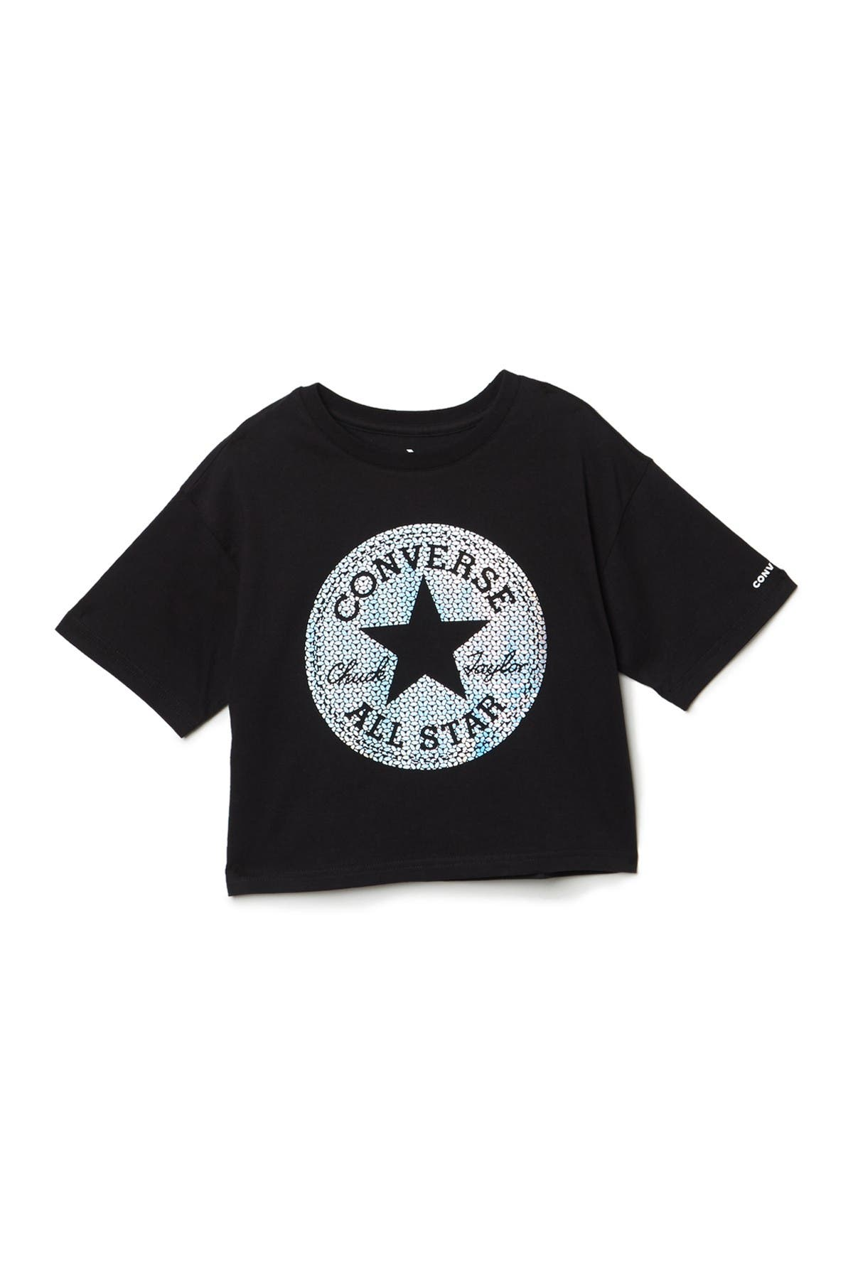 Image of Hurley Faux Sequin Chuck Logo Boxy Tee