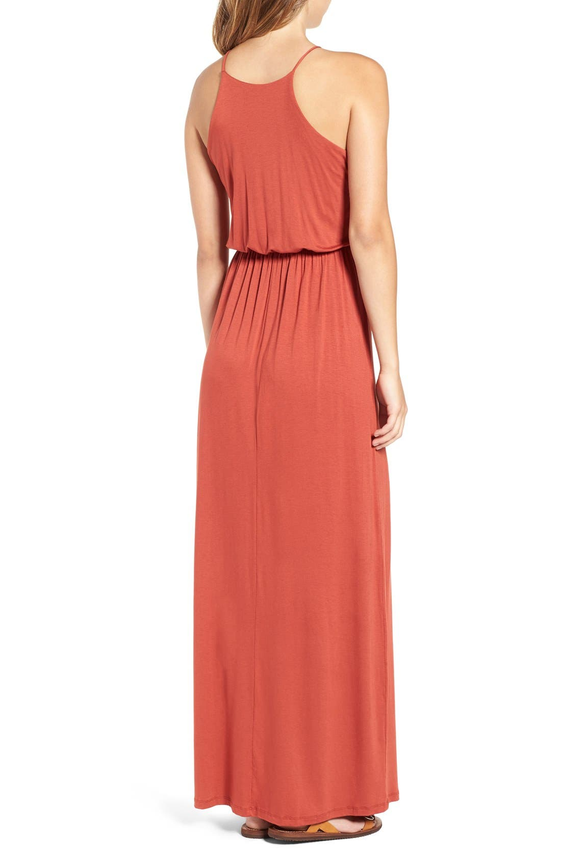 ,                             High Neck Maxi Dress,                             Alternate thumbnail 134, color,                             800