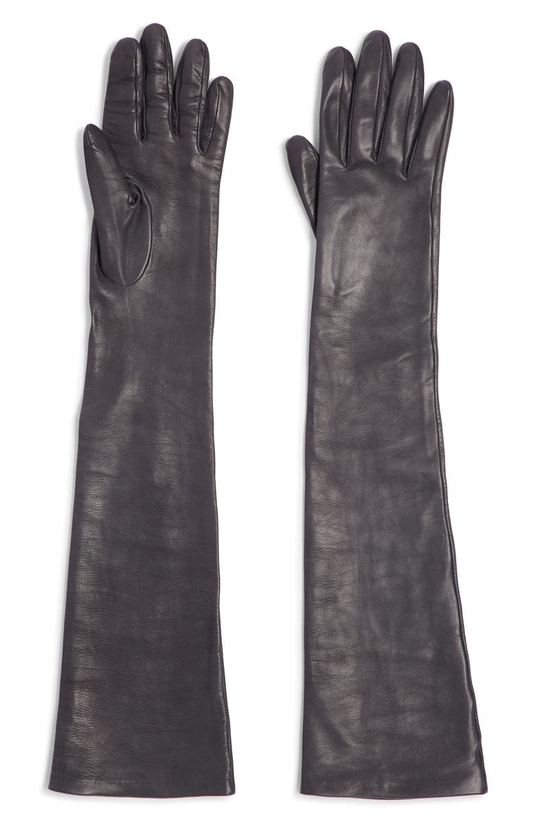 DRIES VAN NOTEN Leather Gloves, Main, color, 001
