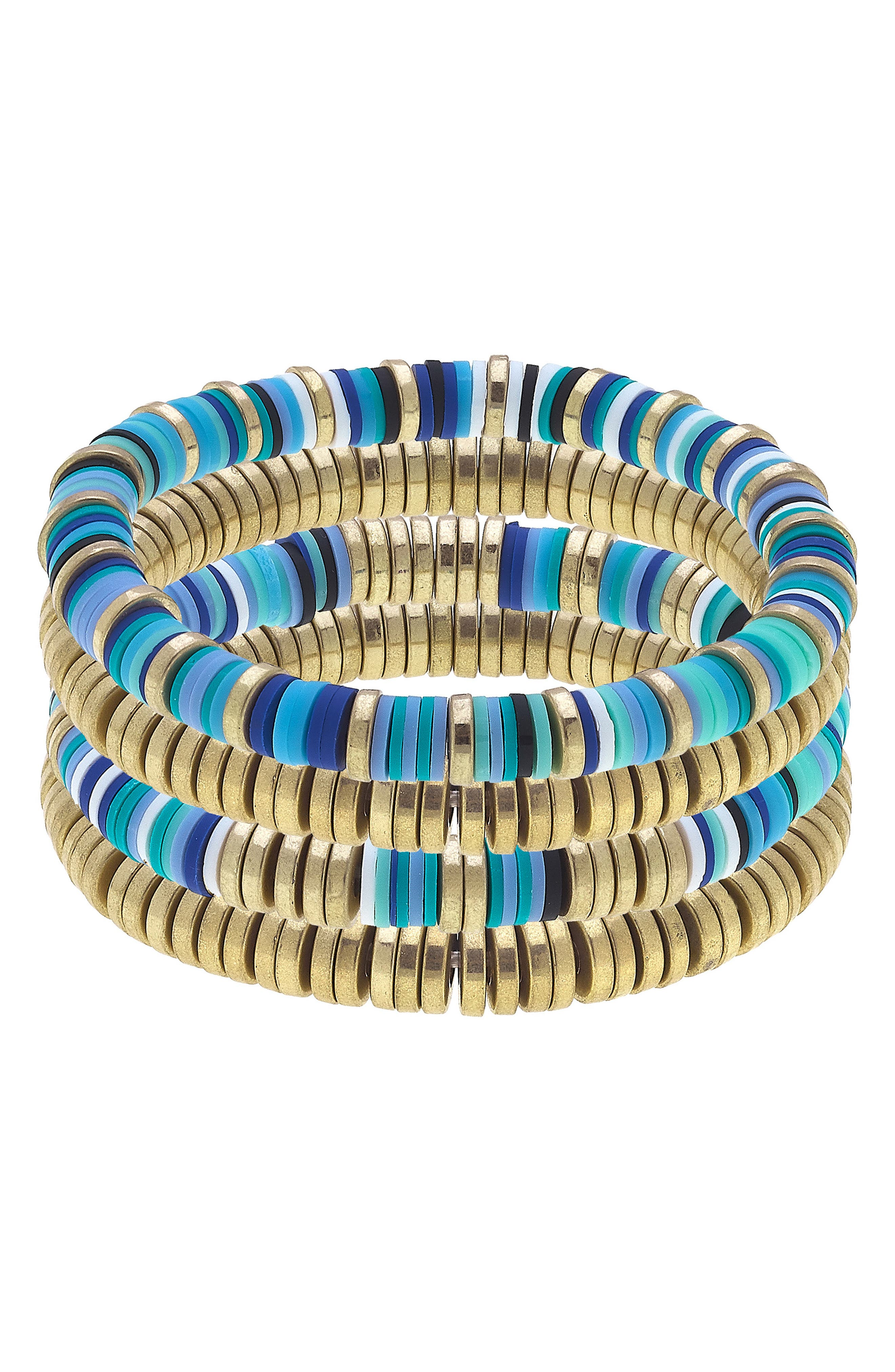 Emberly Set Of Four Stacking Bracelets