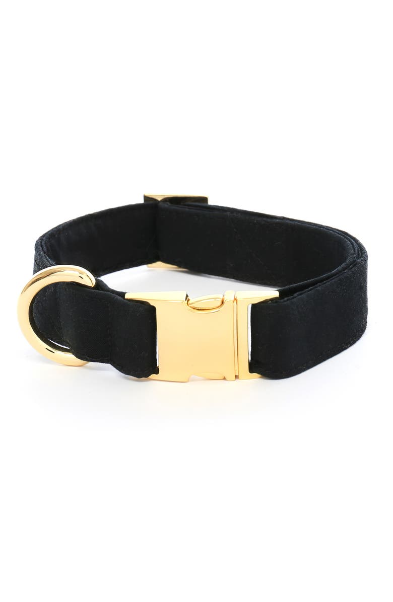 THE FOGGY DOG Onyx Dog Collar, Main, color, ONYX/ GOLD