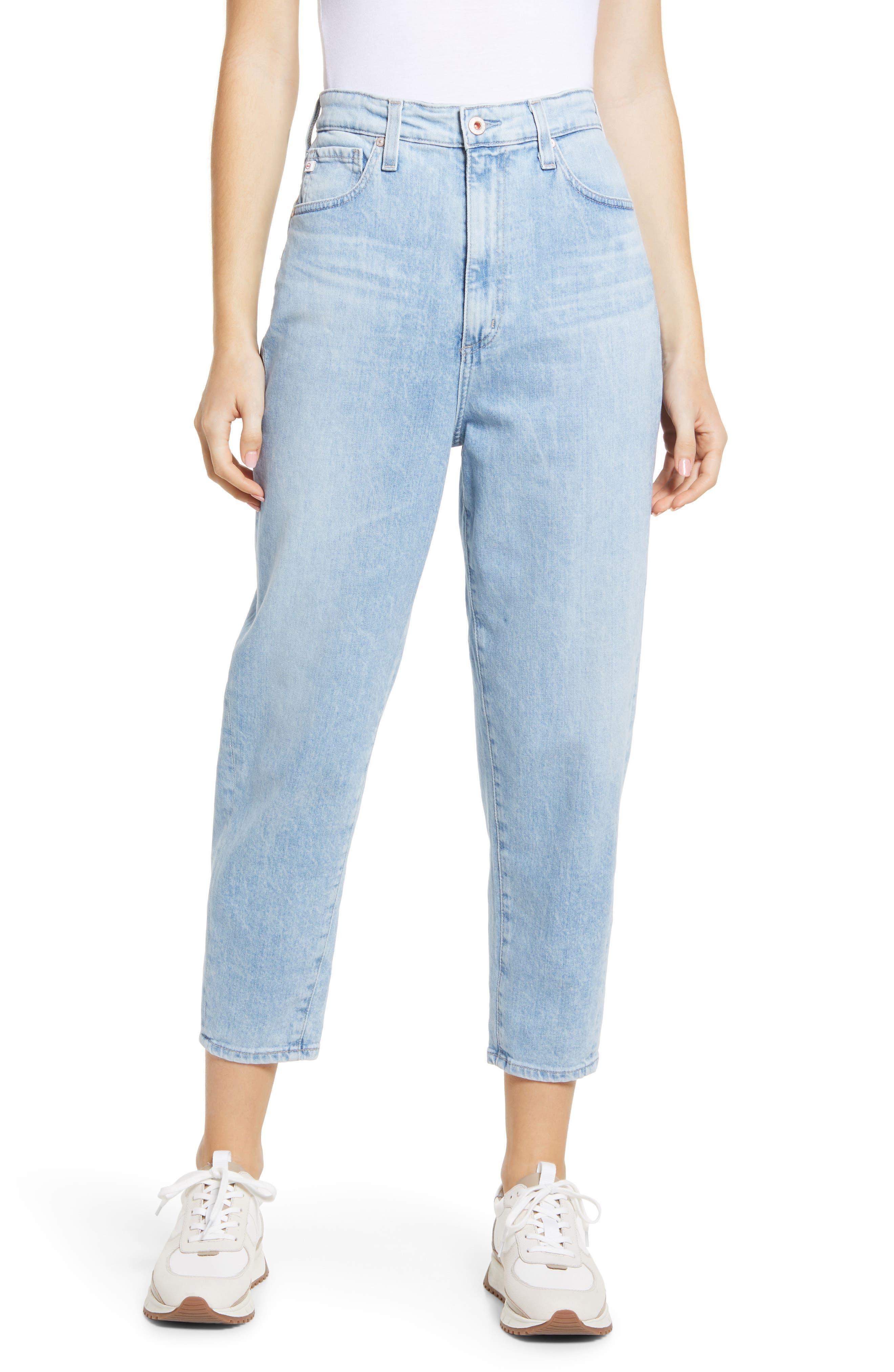 Renn High Waist Crop Straight Leg Jeans