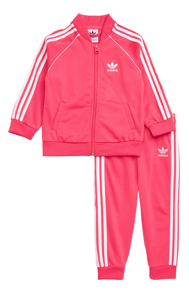 ADIDAS ORIGINALS Little Superstar Track Jacket & Pants Set, Main, color, PINK