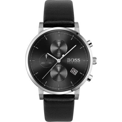 Boss Integrity Chronograph Leather Strap Watch, 4m
