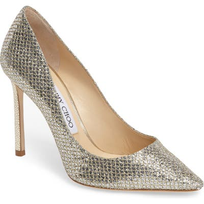 Jimmy Choo Romy Pointy Toe Pump, Beige