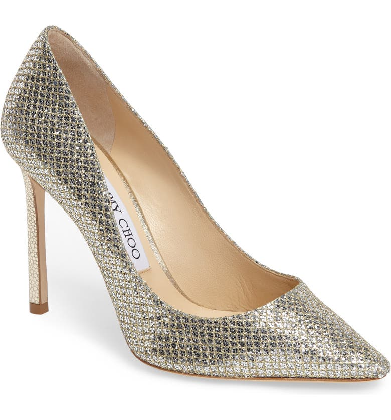 JIMMY CHOO Romy Pointy Toe Pump, Main, color, CHAMPAGNE