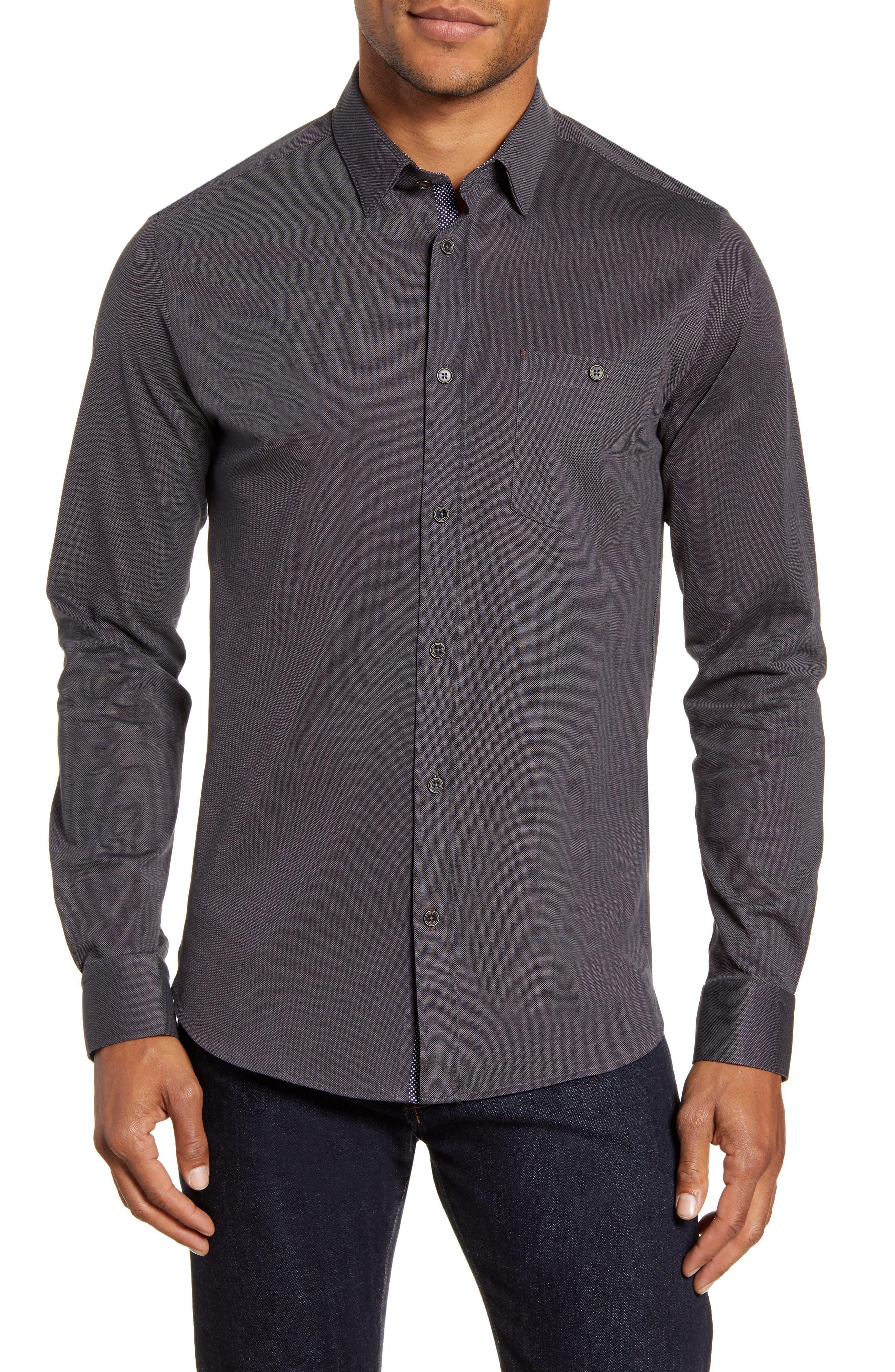 Image of Ted Baker London Broader Slim Fit Pique Shirt