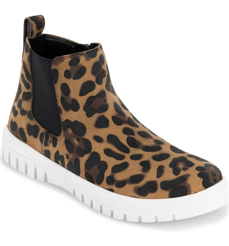 BLONDO Flora Waterproof Bootie, Main, color, LEOPARD SUEDE