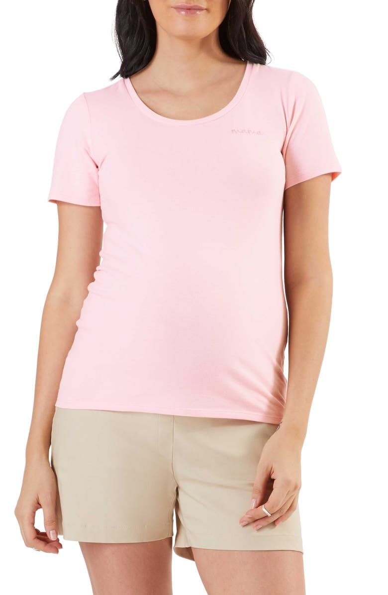 STOWAWAY COLLECTION Mama Embroidered T-Shirt, Main, color, PINK