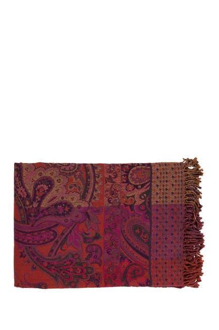 Image of SURYA HOME Wool Blend Throw - Magenta