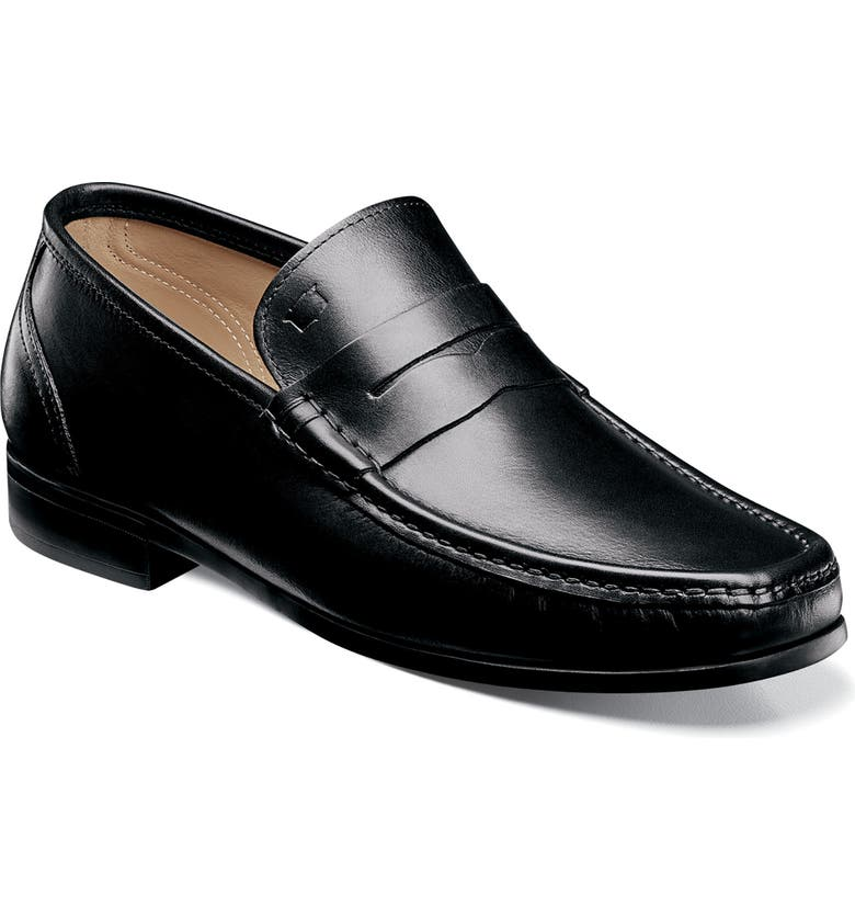 FLORSHEIM Imperial Puente Penny Loafer, Main, color, BLACK LEATHER