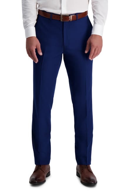 Image of Louis Raphael Skinny Fit Stretch Gabardine Solid Pants