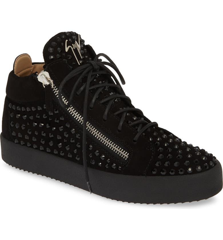 GIUSEPPE ZANOTTI Mid-Top Sneaker, Main, color, NERO/ BLACK