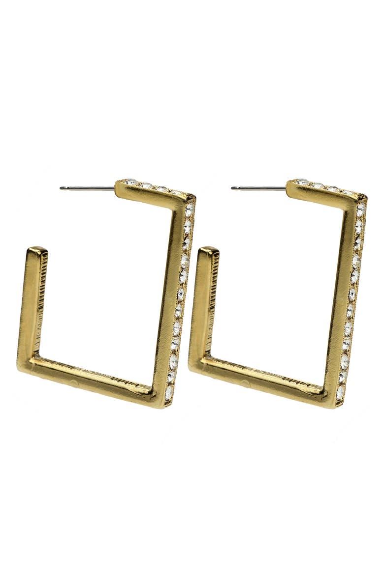 BEN-AMUN Square Hoop Earrings, Main, color, GOLD