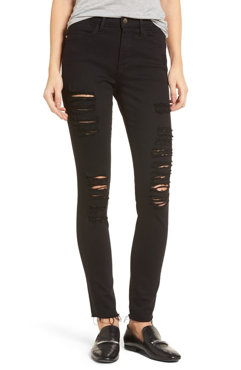 FRAME Le Color High Waist Skinny Jeans, Main, color, 003