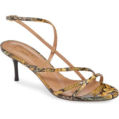 Aquazzura Carolyne Genuine Snakeskin Sandal - Yellow