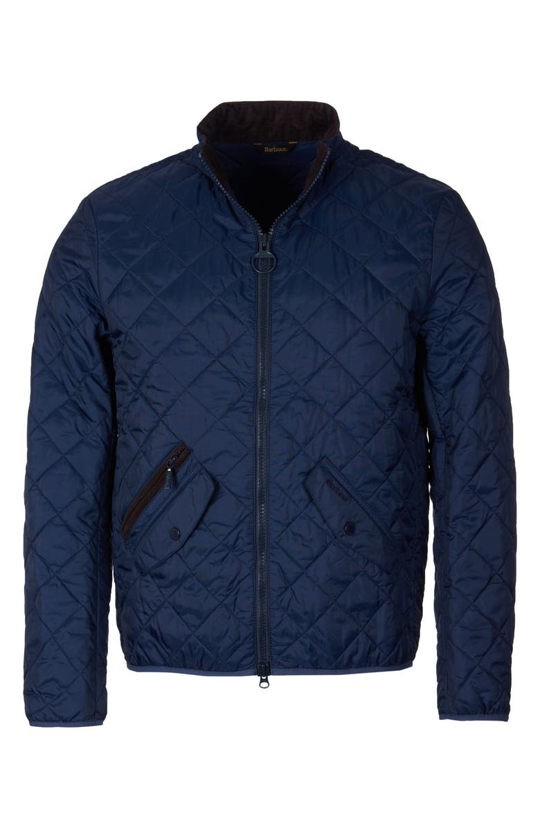 BARBOUR Kensington Quilted Nylon Jacket, Main, color, NAVY