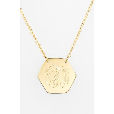 Jane Basch Designs Personalized Hexagon Pendant Necklace
