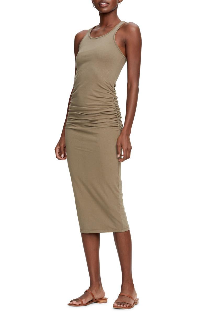 MICHAEL STARS Racerback Midi Dress, Main, color, OLIVE